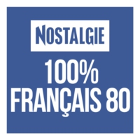 Logo of radio station Nostalgie 100% Français 80