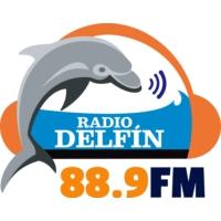 Logo of radio station XHUACC Radio Delfín 88.9 FM
