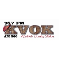 Logo of radio station 98.7 KVOK