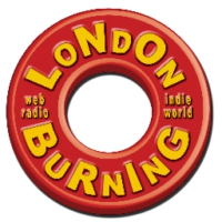Logo of radio station London Burning
