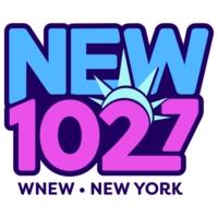 Logo of radio station WNEW-FM NEW 102.7 FM
