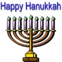 Logo of radio station WUMB Hanukkah Music