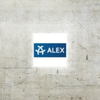 Logo of radio station ALEX