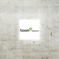 Logo of radio station CFEI Boom 106.5 FM