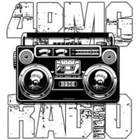 Logo of radio station 4PMG Radio