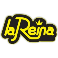Logo of radio station La Reina 98.6 FM