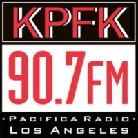 Logo of radio station KPFK 90.7 FM