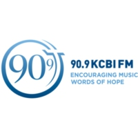 Logo of radio station KCBI 90.9 FM