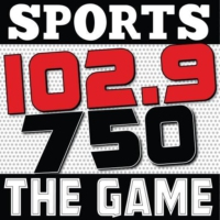 Logo of radio station KXTG 102.9 The Game