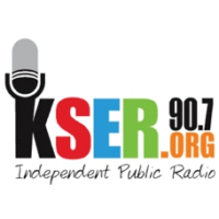 Logo of radio station KSER 90.7