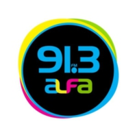 Logo of radio station XHFAJ Alfa 91.3 FM