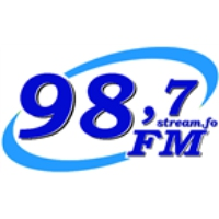 Logo of radio station FM98,7 Klaksví
