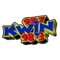Logo of radio station 97.7 & 98.3 KWIN