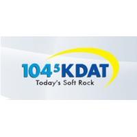 Logo of radio station KDAT 104.5