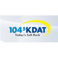 Logo of radio station KDAT 104.5