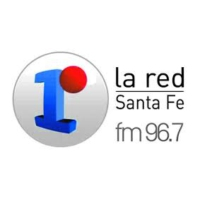 Logo of radio station LA RED Santa Fe 96.7