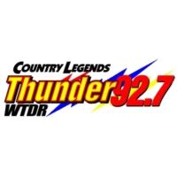 Logo de la radio WTDR Thunder 92.7