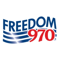 Logo of radio station KUFO Freedom 970 Radio