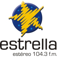 Logo of radio station Estrella Colombia 104.3 FM
