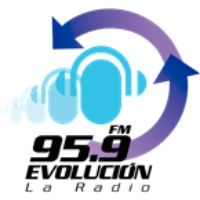 Logo of radio station Evolución 95.9 Caracas