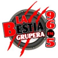 Logo of radio station XHITA La Bestia Grupera 96.5 FM
