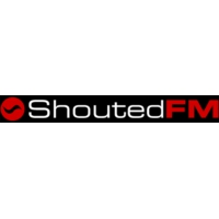 Logo of radio station ShoutedFM mth.Black