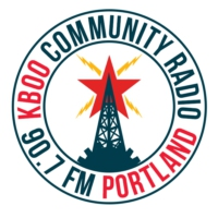 Logo of radio station KBOO 90.7fm