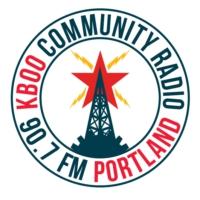 Logo of radio station KBOO 90.7fm
