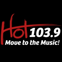 Logo of radio station KHTI Hot 103.9