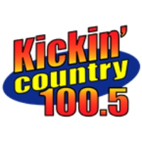 Logo of radio station KIKN Kickin' Country 100.5