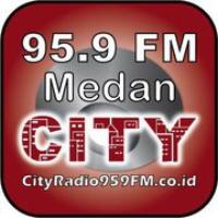 Logo de la radio City Radio Medan 95.9