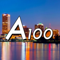 Logo of radio station A100