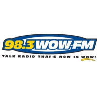 Logo of radio station KWQW WOW 98.3