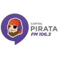 Logo of radio station XHLAYA Pirata FM 106.3 FM