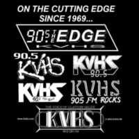 Logo de la radio KVHS The Edge 90.5