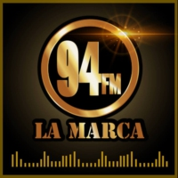 Logo of radio station La Marca 94.1 FM