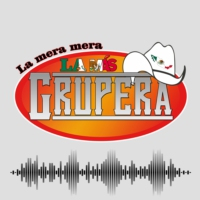 Logo of radio station La Más Grupera