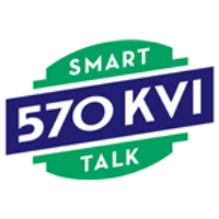 Logo of radio station KVI Talk Radio 570 FM