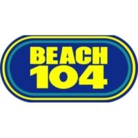 Logo of radio station WCXL Beach 104