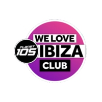 Logo de la radio Planet 105 - We Love Ibiza Club