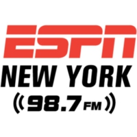Logo of radio station WEPN 98.7 FM ESPN