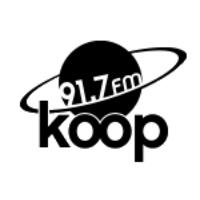 Logo de la radio KOOP 91.7 FM