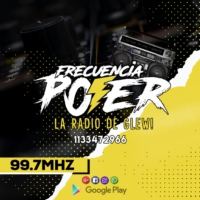 Logo of radio station FRECUENCIA POWER 99.7 FM LA RADIO DE GLEW