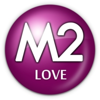 Logo of radio station M2 LOVE