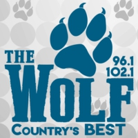 Logo of radio station KWFI-FM 96.1 & 102.1 The Wolf