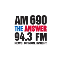 Logo of radio station AM 690 KHNR The ANSWER