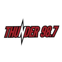 Logo of radio station KPRF Thunder 98.7