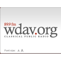 Logo of radio station WDAV NPR 89.9 FM