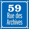 Logo of show 59 Rue des Archives