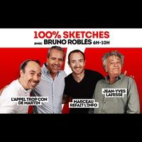 Logo de l'émission Rire & Chansons 100% Sketches avec Bruno Robles
